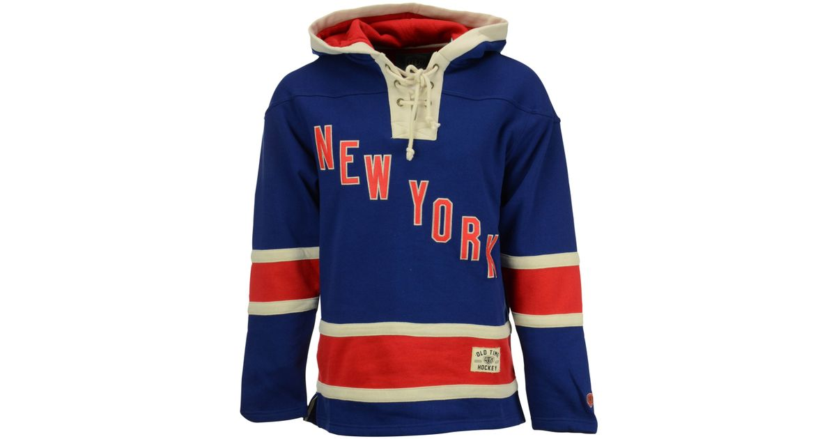 bb03afe24b3 Old Time Hockey Men's New York Rangers Lacer Hoodie in Blue for Men - Lyst