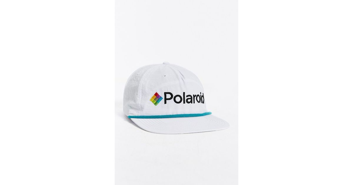 Lyst - Urban Outfitters Polaroid Nylon Snapback Hat in White for Men 2fe3a80d0f9