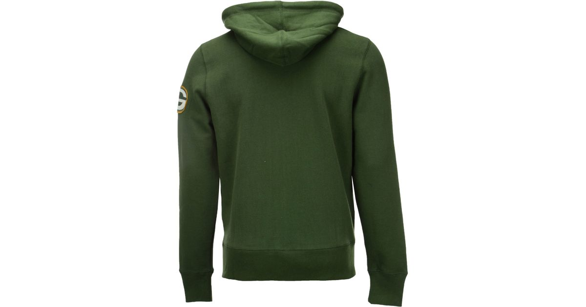 Lyst - 47 Brand Men s Green Bay Packers Cross Check Full-zip Hoodie in  Green for Men c2c11dc2d