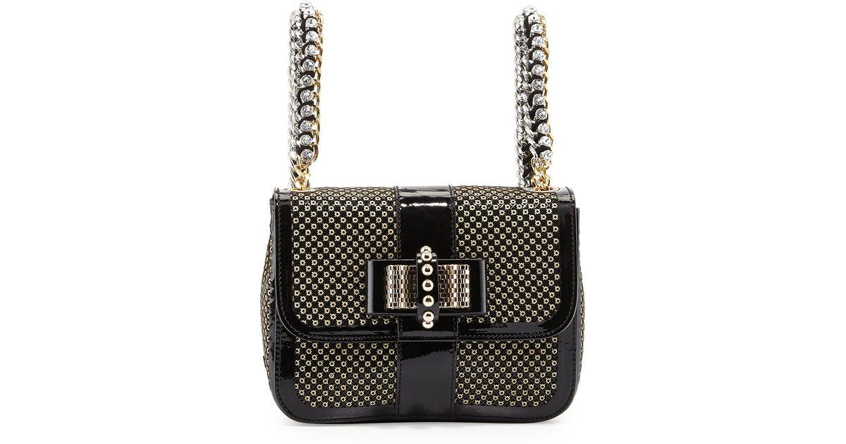 Lyst - Christian Louboutin Sweet Charity Mini Backpack in Black 76b4d12308561