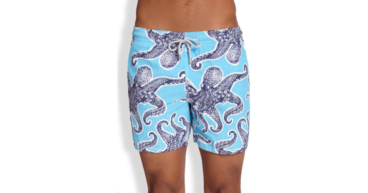 77241b25a9426 Vilebrequin Moorea Octopus Swim Trunks in Blue for Men - Lyst