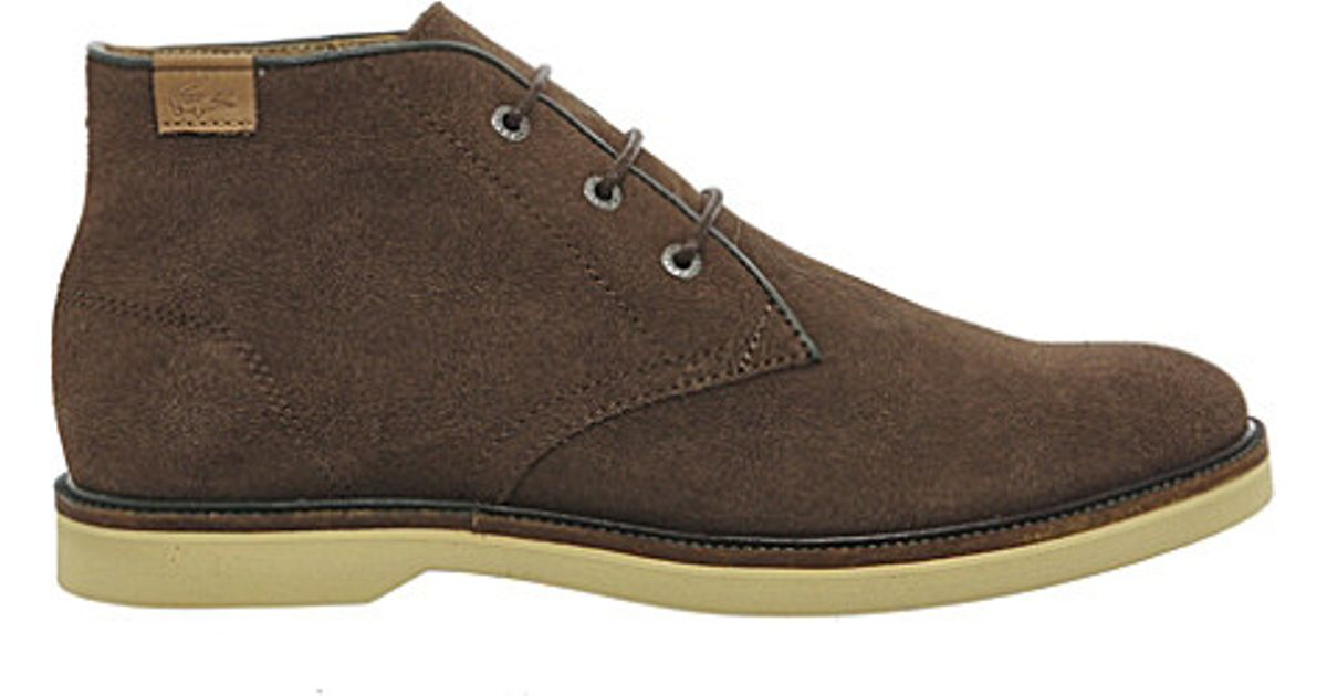 814639d1f8628c Lacoste Sherbrooke Suede Boots in Brown for Men - Lyst