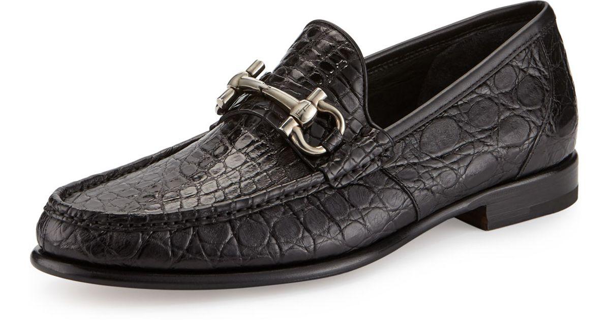 Crocodile Shoes For Mens Salvatore Ferragamo