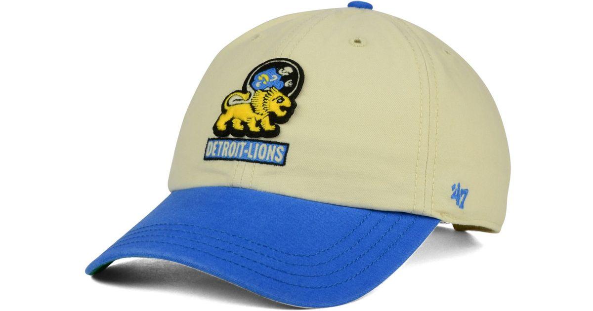 Lyst - 47 Brand Detroit Lions Horseshoe Clean Up Cap in Blue for Men f08c2bea0