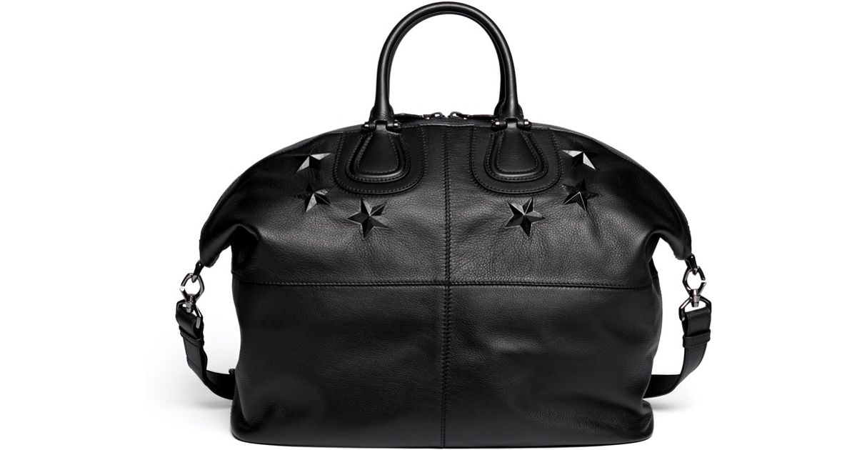 Givenchy Nightingale Star Embossed Leather Bag in Black for Men - Lyst 90fb5be5075ea
