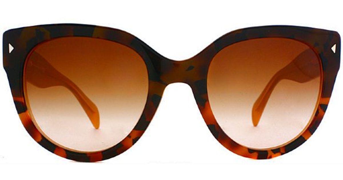 83eabd9892a0 ... sunglasses f1e1d 05c25; coupon for lyst prada pr 17os fal1z1 dark  havana on opal yellow high fashion cat eye