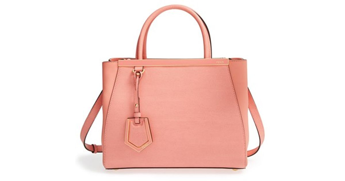 91443990d46 Lyst - Fendi Petite 2Jours Elite Leather Tote in Pink