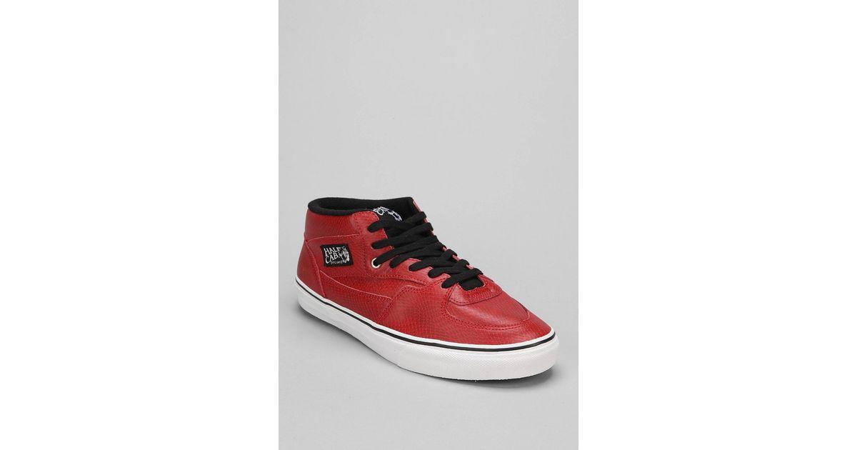 6357a86e906565 Lyst - Vans Half Cab Snake Men S Sneaker in Red for Men