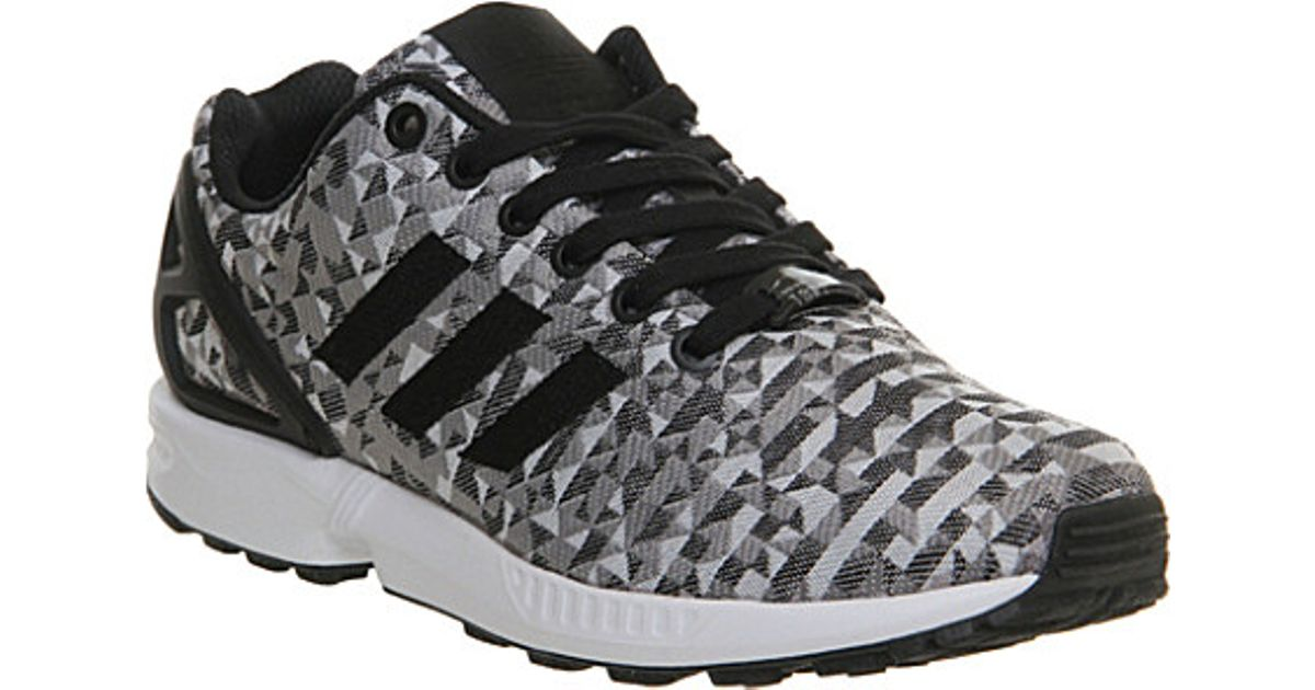 b3feff23f adidas Zx Flux Patterned Trainers - For Men in White for Men - Lyst