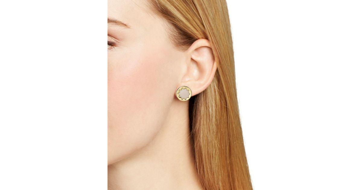 House Of Harlow 1960 White Enamel Sunburst Stud Earrings