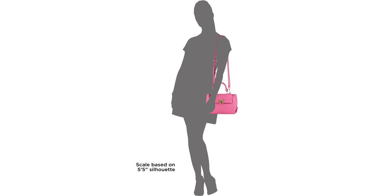 d787ec9e87b8 Lyst - Ferragamo Sofia Small Leather Satchel in Pink