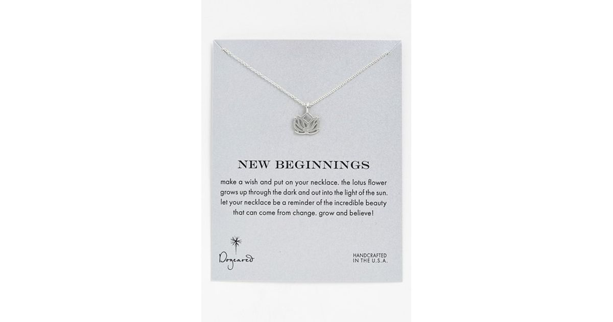Dogeared New Beginnings Lotus Pendant Necklace In Metallic Lyst