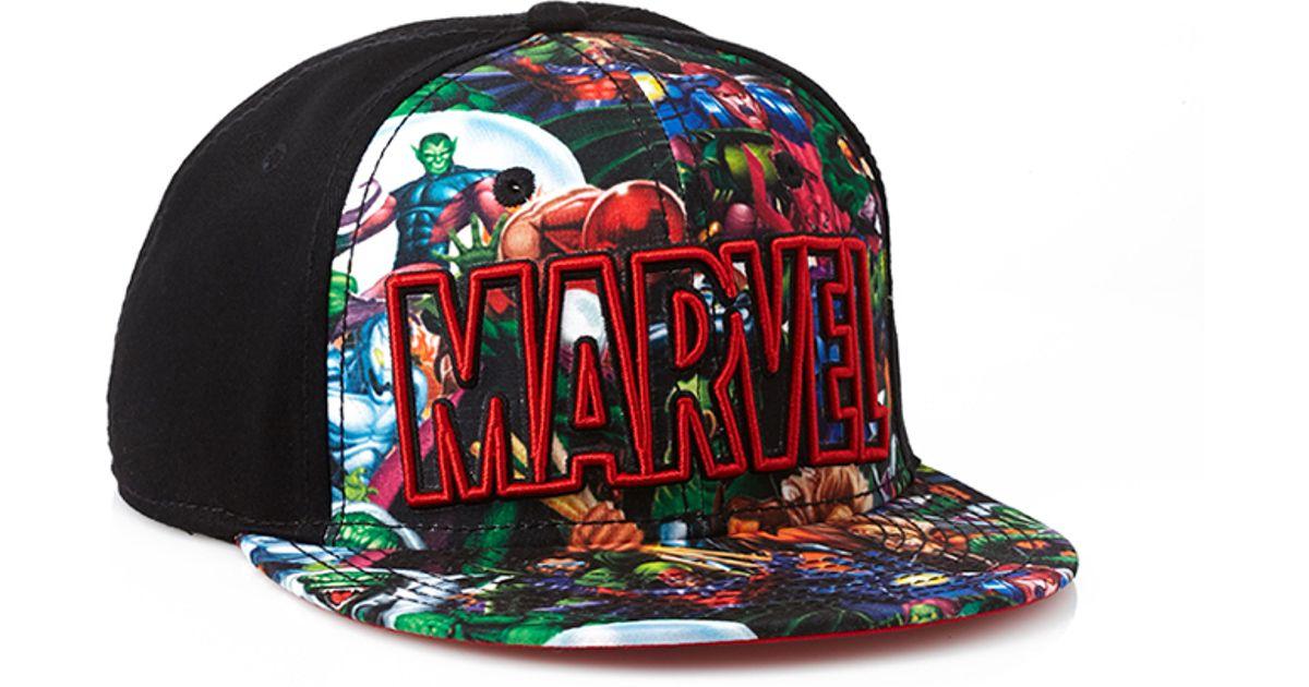 Lyst - Forever 21 Marvel Comics Snapback Hat in Green for Men 57df09a229c