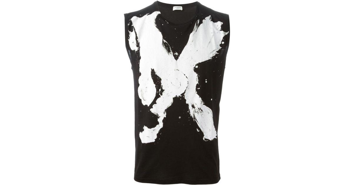 f8a07504 Saint Laurent 'Mr.X' Tank Top in Black for Men - Lyst