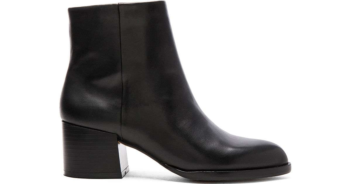 4ddc64300 Lyst - Sam Edelman Joey Leather Ankle Boots in Black