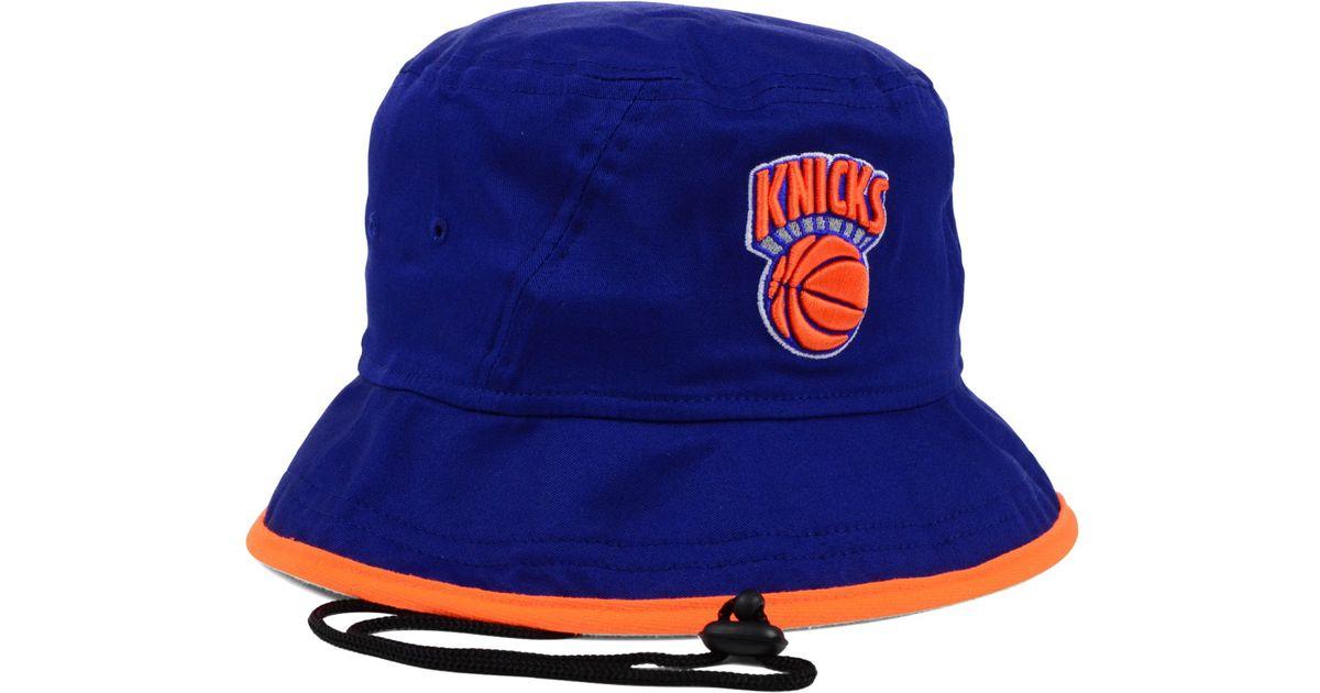 320adcba373 Lyst - KTZ New York Knicks Hardwood Classics Tipped Bucket Hat in Blue for  Men