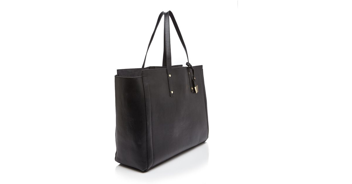f15b11993f1c Ivanka Trump Soho Leather Tote in Black - Lyst
