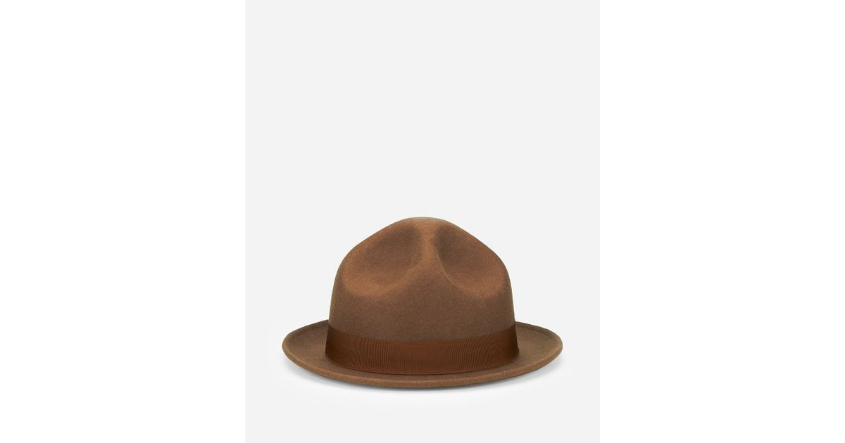 9a7e856e0dc3f4 San Diego Hat Company Mens Wool Felt Tall Crown Hat in Brown for Men - Lyst