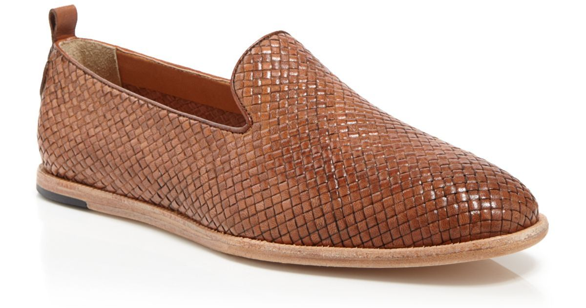 a382671b815 Lyst - H by Hudson Ipanema Woven Loafers in Brown for Men