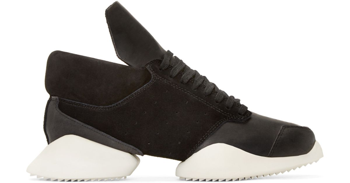 huge selection of 78062 2f400 Rick Owens Black   White Island Sole Adidas By Sneakers in Black for Men -  Lyst