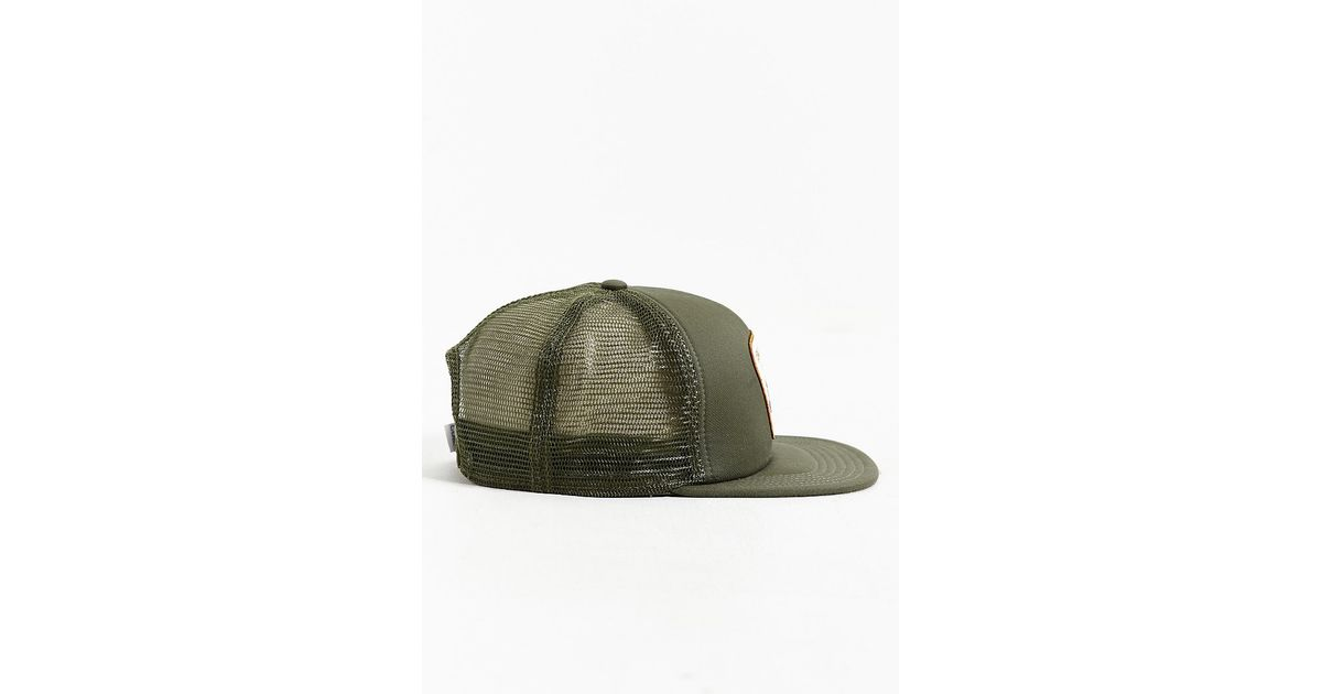 coal the bureau snapback trucker hat in green for men lyst. Black Bedroom Furniture Sets. Home Design Ideas
