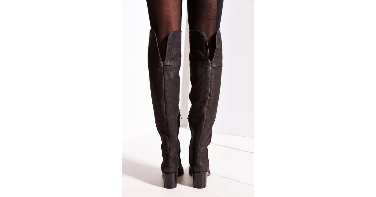 d20e0bfdad6 Lyst - Sam Edelman Joplin Heeled Over-The-Knee Boot in Black