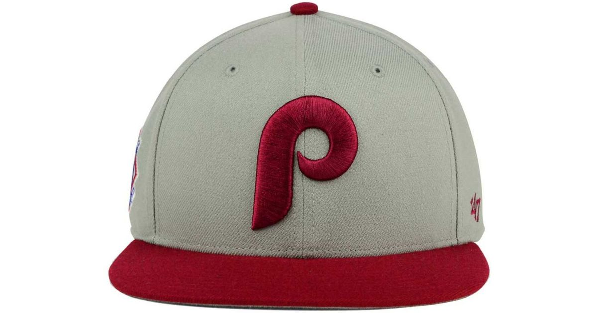 cheaper 2eae5 6a548 ... sale lyst 47 brand philadelphia phillies sure shot snapback cap in gray  for men c01a9 c4af8