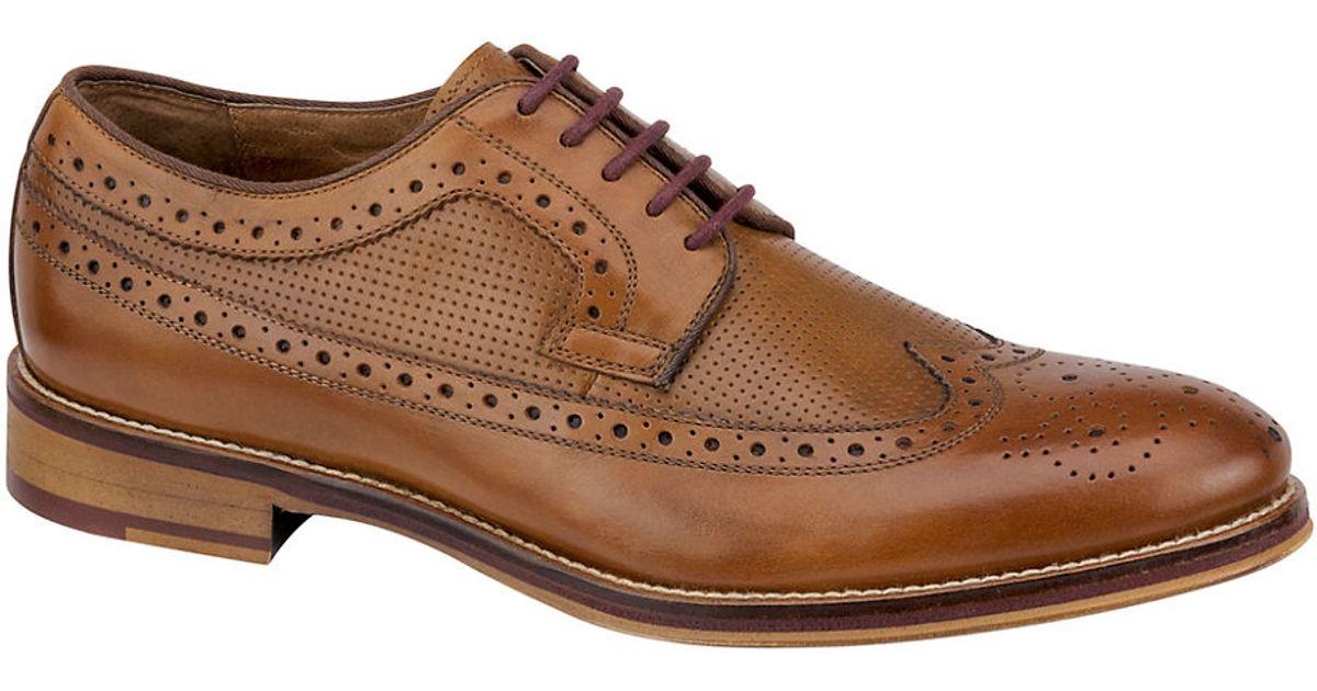 Johnston Amp Murphy Conard Leather Brogue Wingtip Oxfords In
