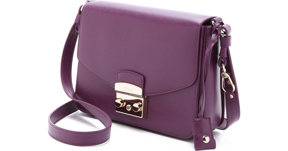 Furla - Purple Metropolis Shoulder Bag - Aubergine - Lyst