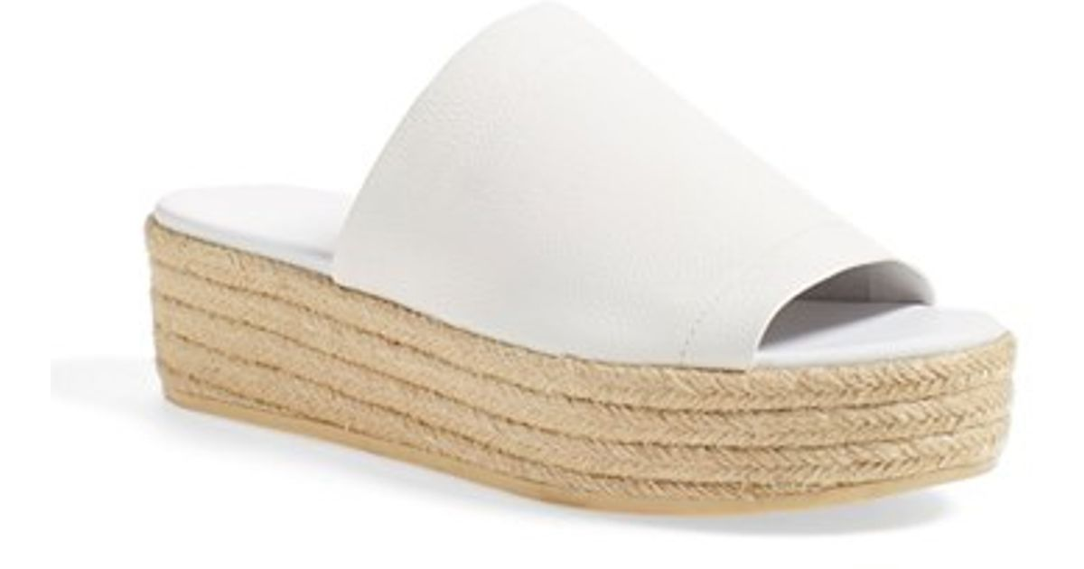 b4b5808661a Vince  solana 3  Espadrille Platform Slide Sandal in Natural - Lyst