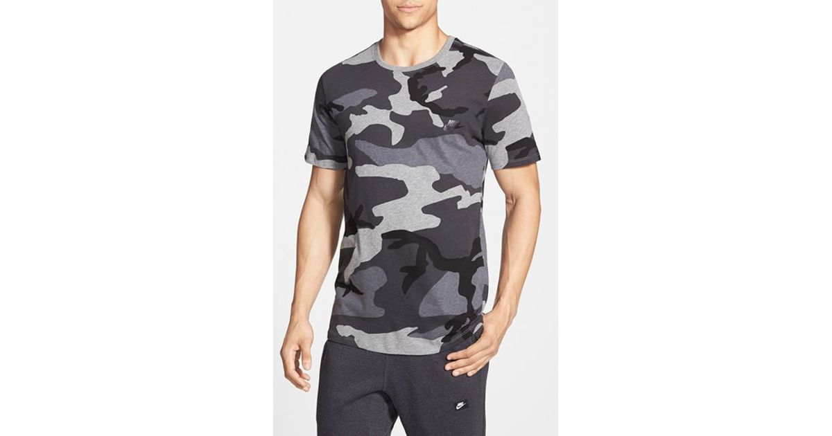 09aedb62 Camo' Shirt For Lyst Nike Men Sportswear 'futura Black In T TxxnCZ
