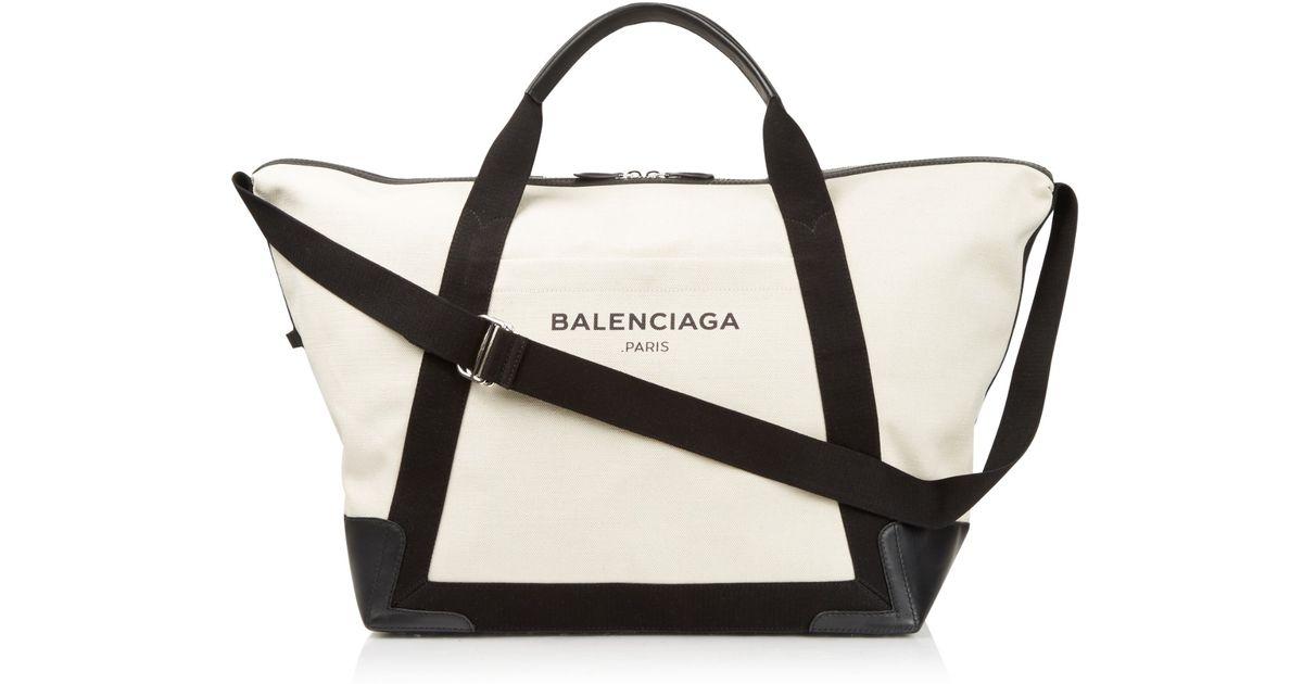 7942c400e429 Lyst - Balenciaga Ligne Large Cotton-Canvas Weekender Bag in Black