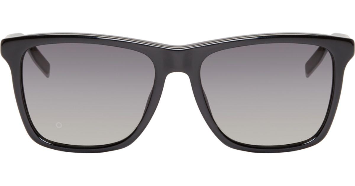 df6f8306cd9b2 Dior homme Black And Silver 177 Black Tie Sunglasses in Black for Men