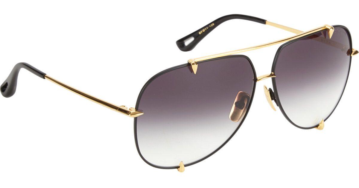 cf42739d6b Lyst - DITA Talon Aviator Sunglasses in Metallic