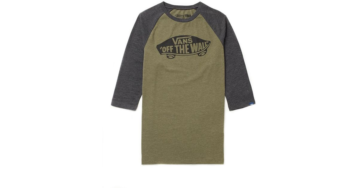 fff73d11e6 Lyst - Vans Off The Wall Raglan T Shirt In Army Heather in Green for Men