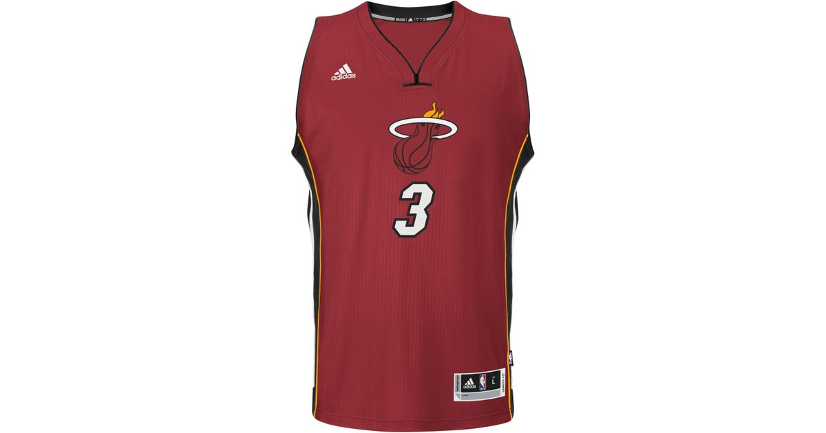 ... greece lyst adidas dwyane wade miami heat christmas day swingman jersey  in red 12c37 ca1f0 3703f409f