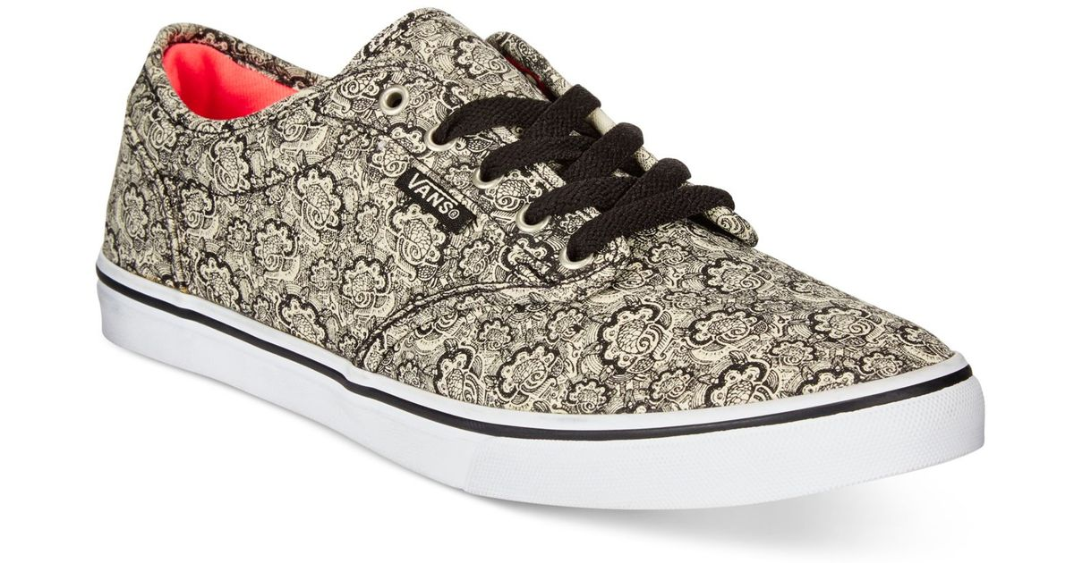 Lyst - Vans Women s Atwood Low Henna Sneakers in Black db87198ababc