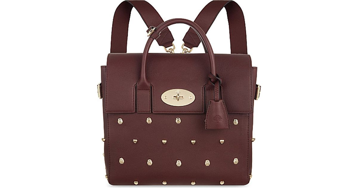 71415d6115 ... sale 4 62256 71217 norway mulberry cara delevingne studded shoulder bag  in red lyst 0aada 13084 reduced mulberry bayswater grained leather ...