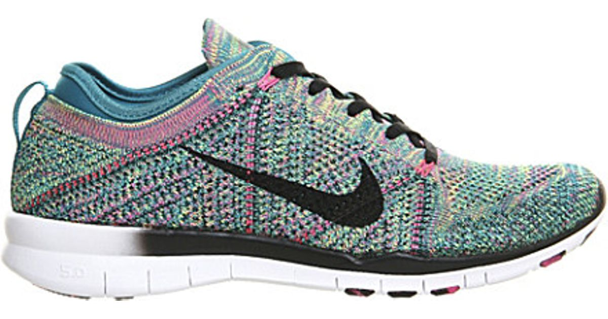 454f378578ef Nike Free Flyknit Mesh Trainers - For Women in Green - Lyst