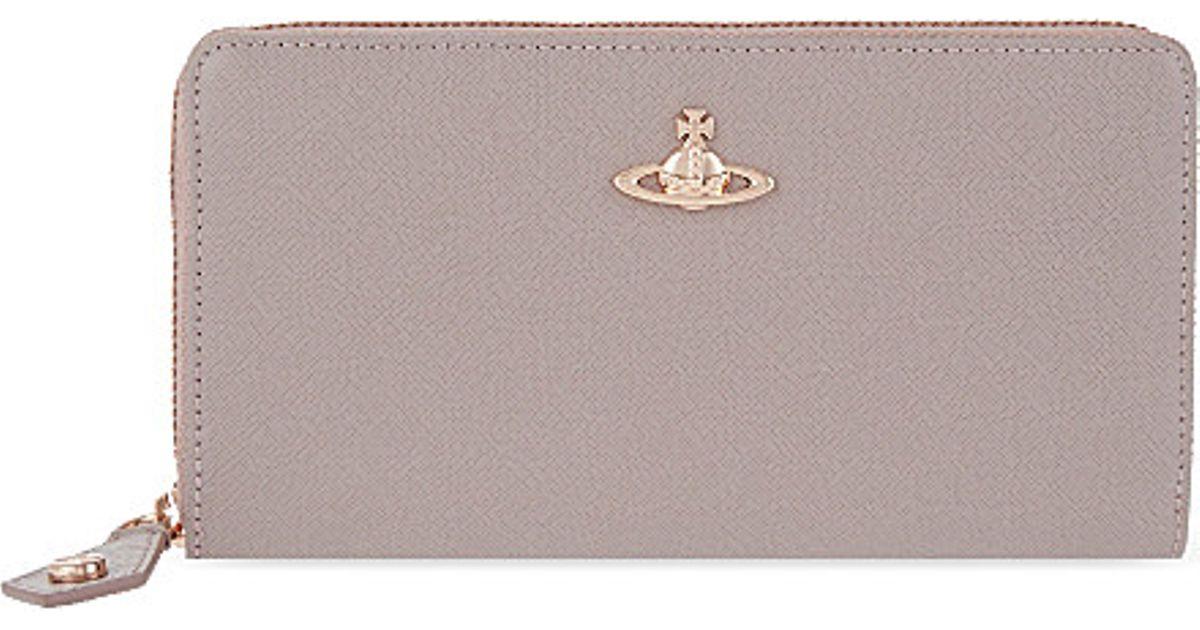 72cf1f1ddd Vivienne Westwood Opio Saffiano Zip-around Wallet - For Women in Pink - Lyst