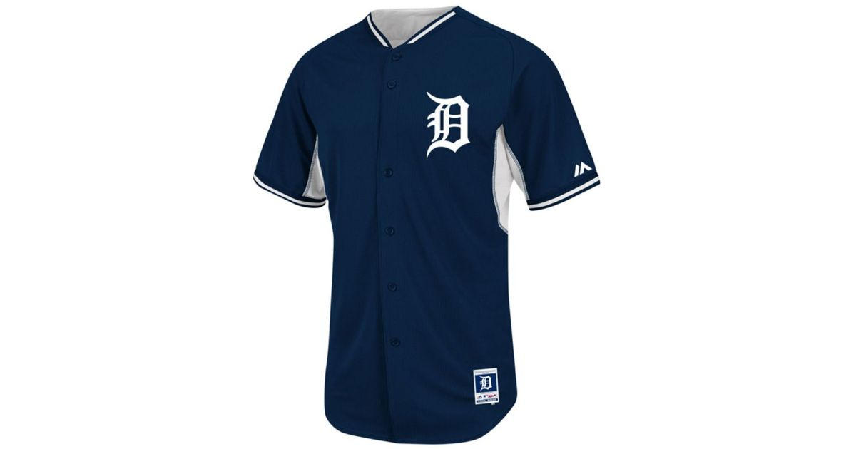 quality design 29172 e96b9 Majestic - Blue Men's Detroit Tigers Cool Base Bp Jersey for Men - Lyst