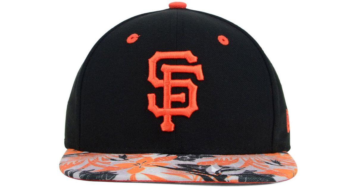 purchase cheap dd9f9 89055 ... shopping lyst ktz san francisco giants floral viz 9fifty snapback cap  in black for men a181a