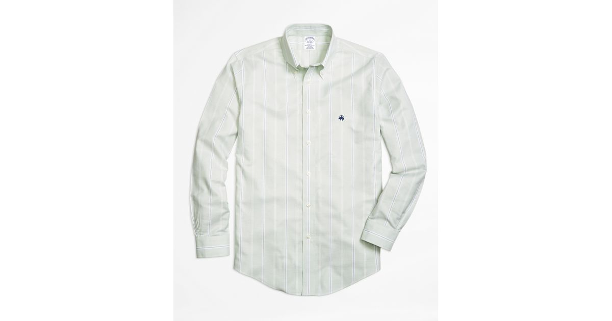 Brooks brothers non iron regent fit wide stripe sport for Brooks brothers non iron shirts review