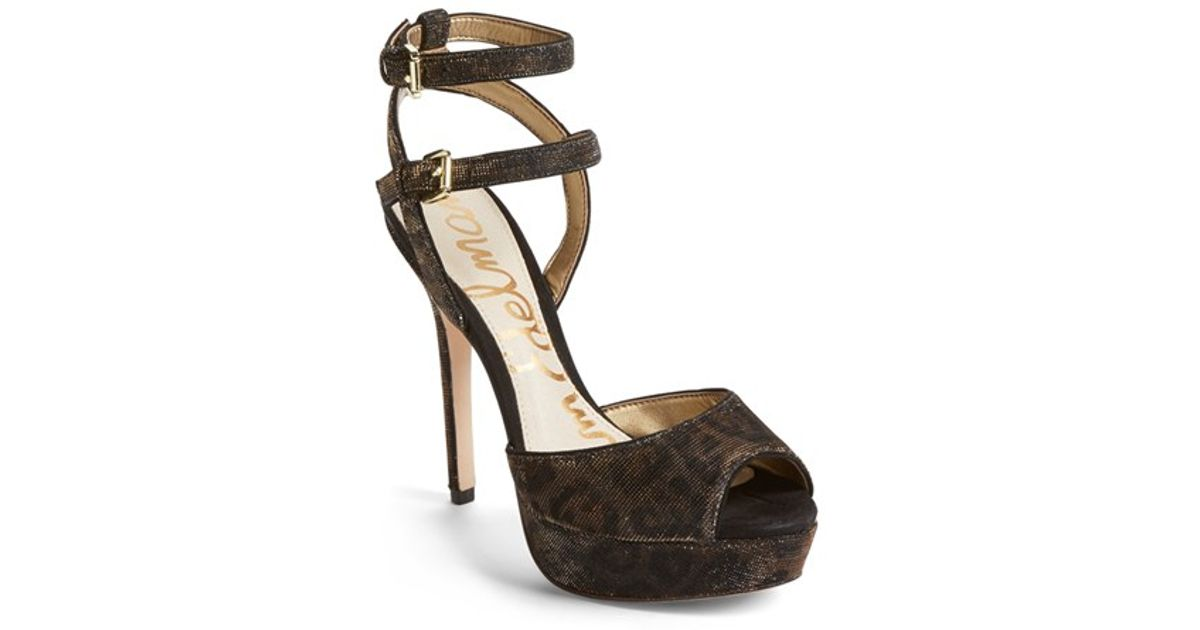 80f2f43b136 Lyst - Sam Edelman Nadine printed Platform Sandals in Metallic