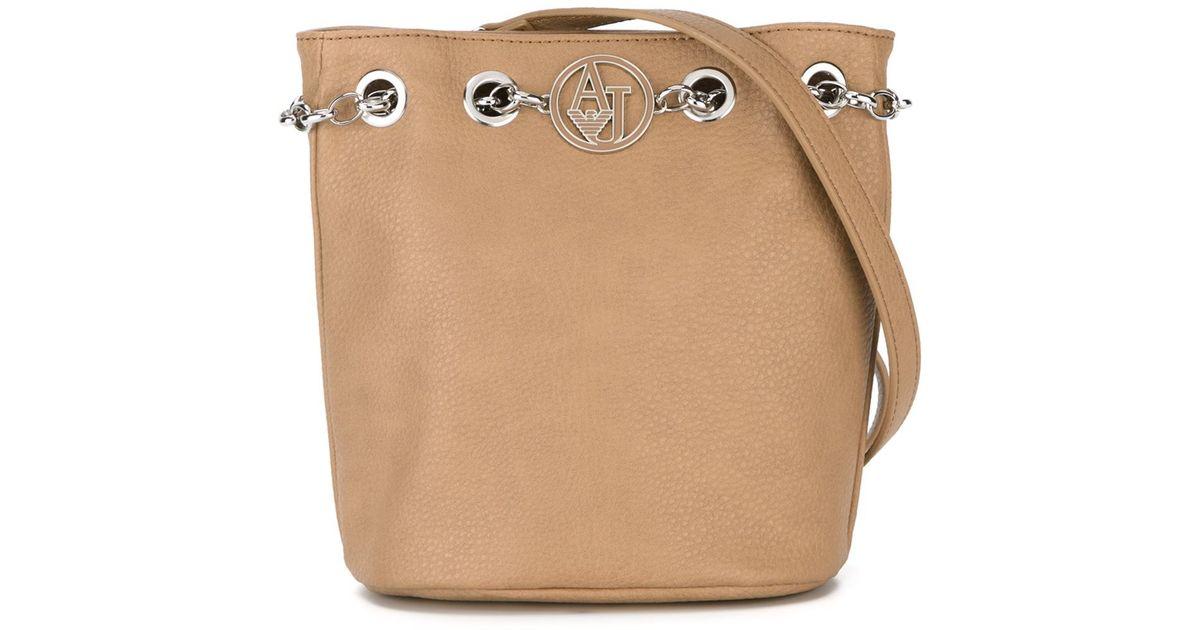 12e0d9509fc6 Lyst - Armani Jeans Bucket Shoulder Bag in Natural