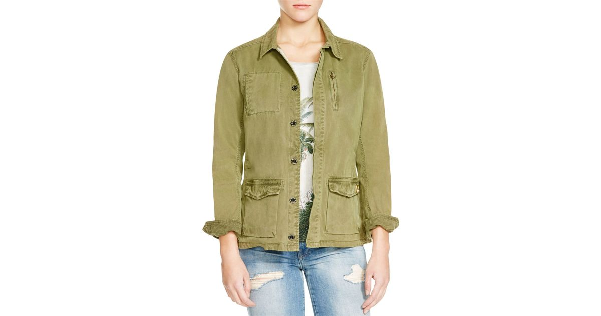 scotch soda cotton military jacket in green lyst. Black Bedroom Furniture Sets. Home Design Ideas
