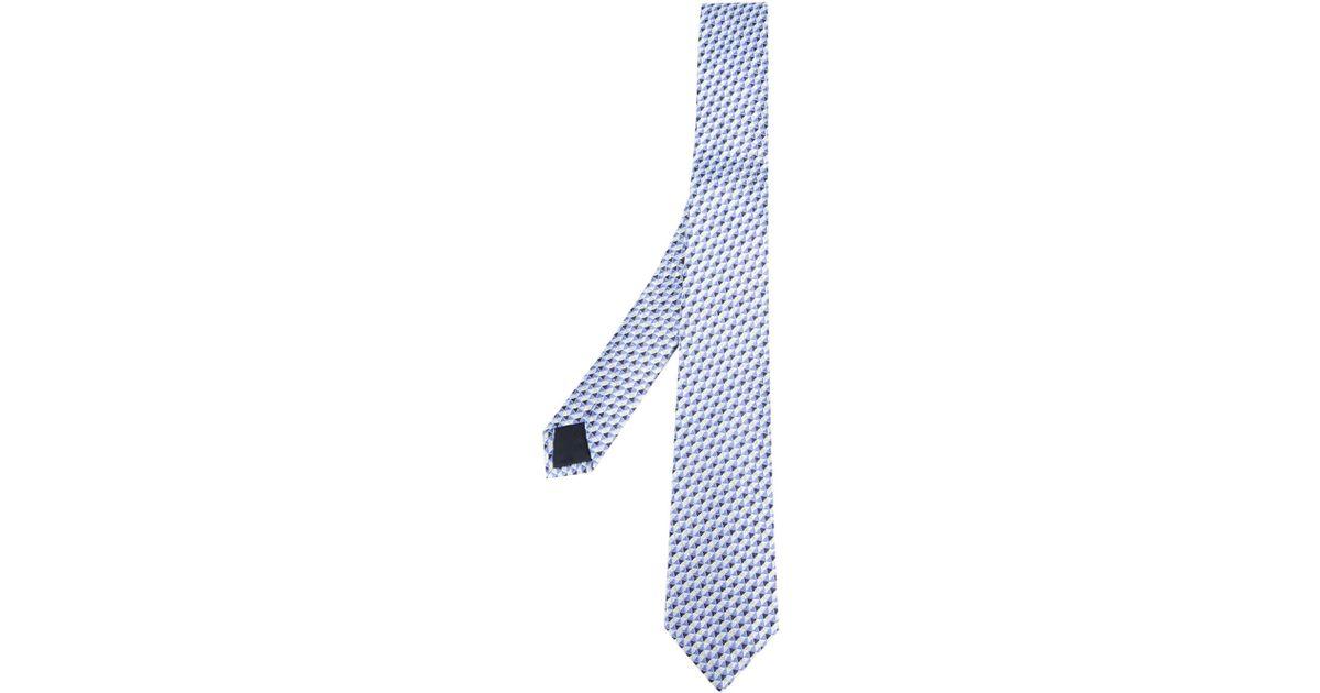 geometric pattern tie - Blue Etro S8wNx