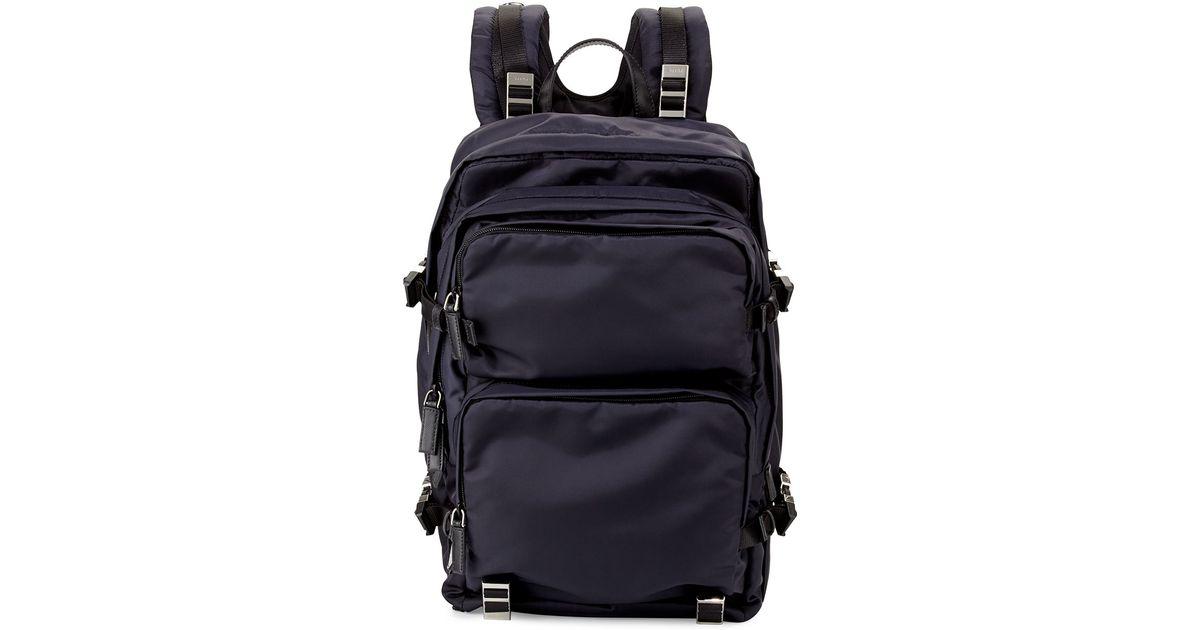 7c6a93195b34 123456789101112 419ee 34fc4 8af82 d585b  where to buy new arrivals lyst  prada multi pocket nylon backpack in blue for men 2878c