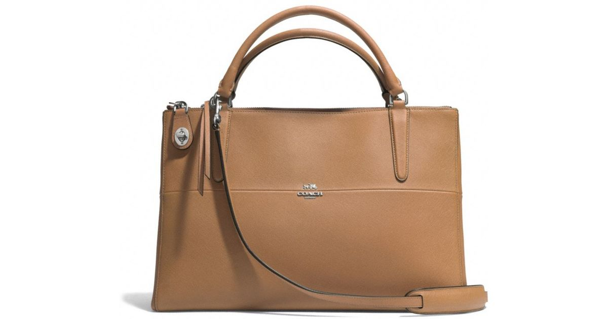 70d0d87597df Lyst - COACH The Borough Bag in Saffiano Leather in Brown