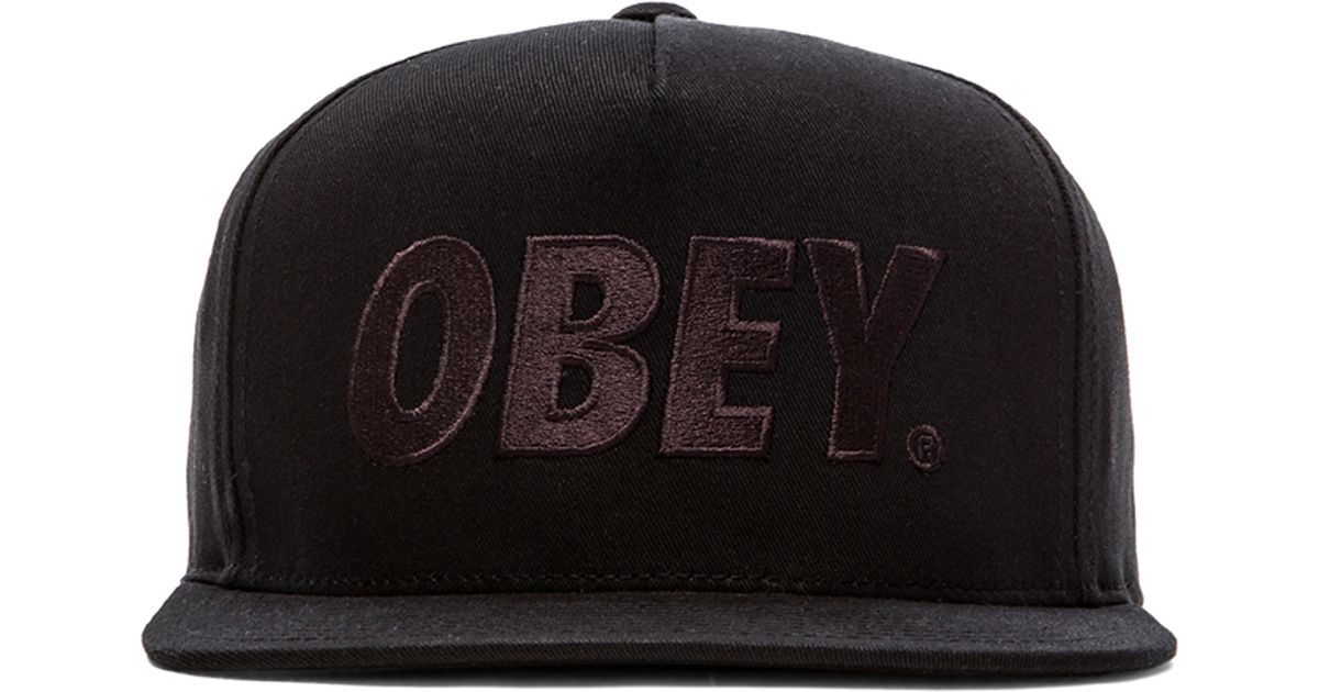 958abf2eb7cb80 Obey The City Snapback Cap in Black for Men - Lyst